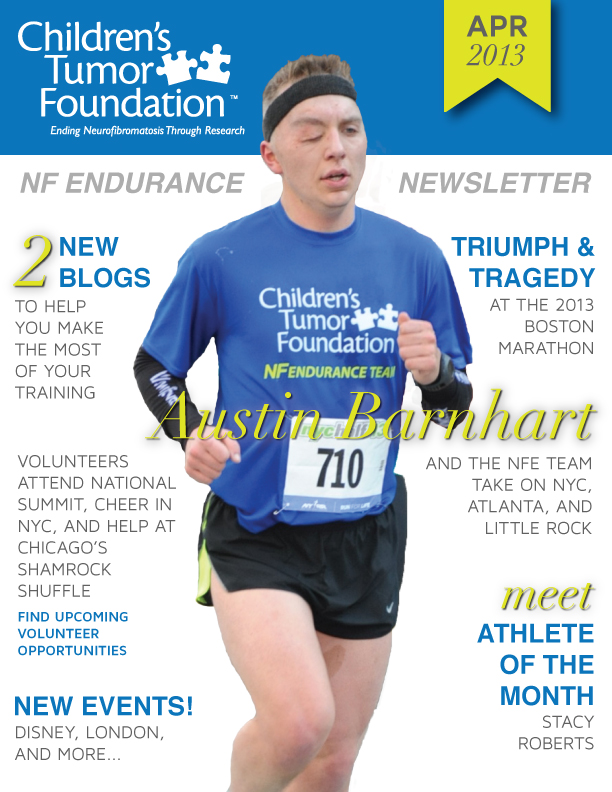 New York City Half Marathon runner for the Children's Tumor Foundation, Austin Barnhart